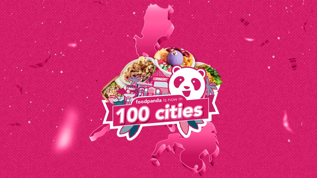 foodpanda is now in 100 cities in the Philippines