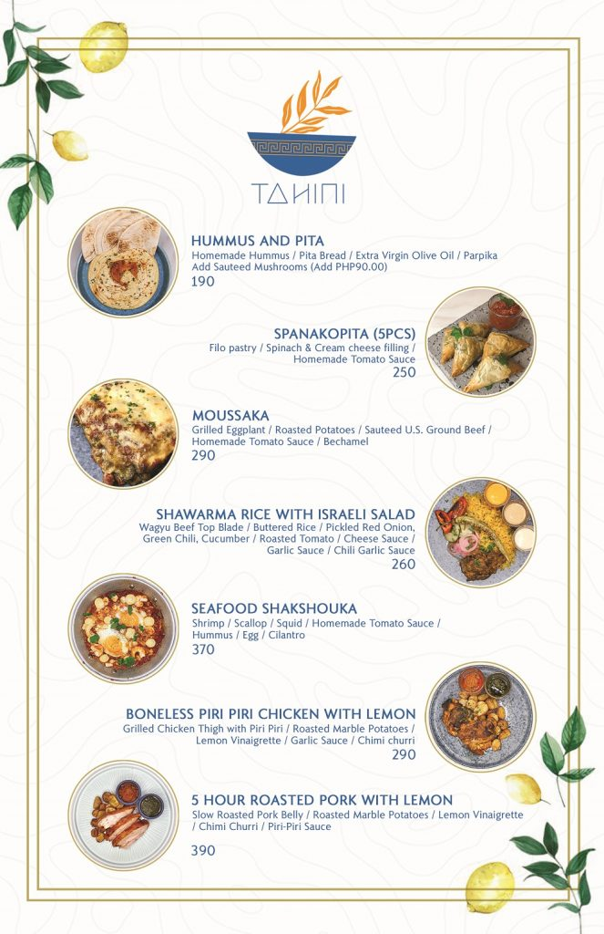 Tahini - The Kitchen CoLab menu