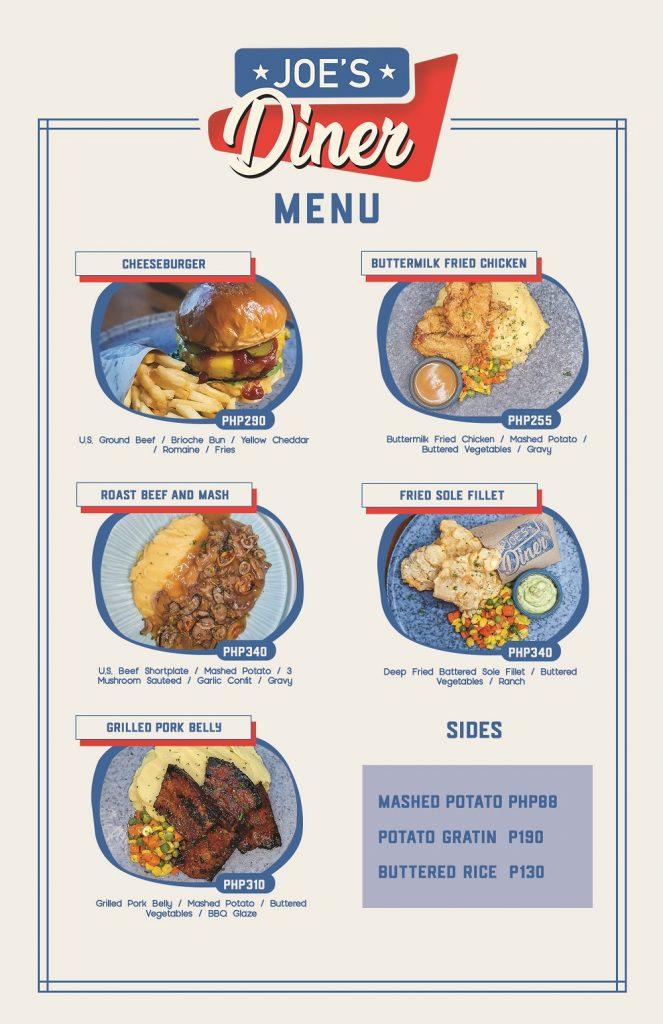 Joe's Diner - The Kitchen CoLab menu