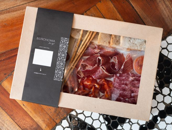 Check Out These Holiday-To-Go Boxes from Las Flores, Rambla, BCN by Las Flores and Tomatito