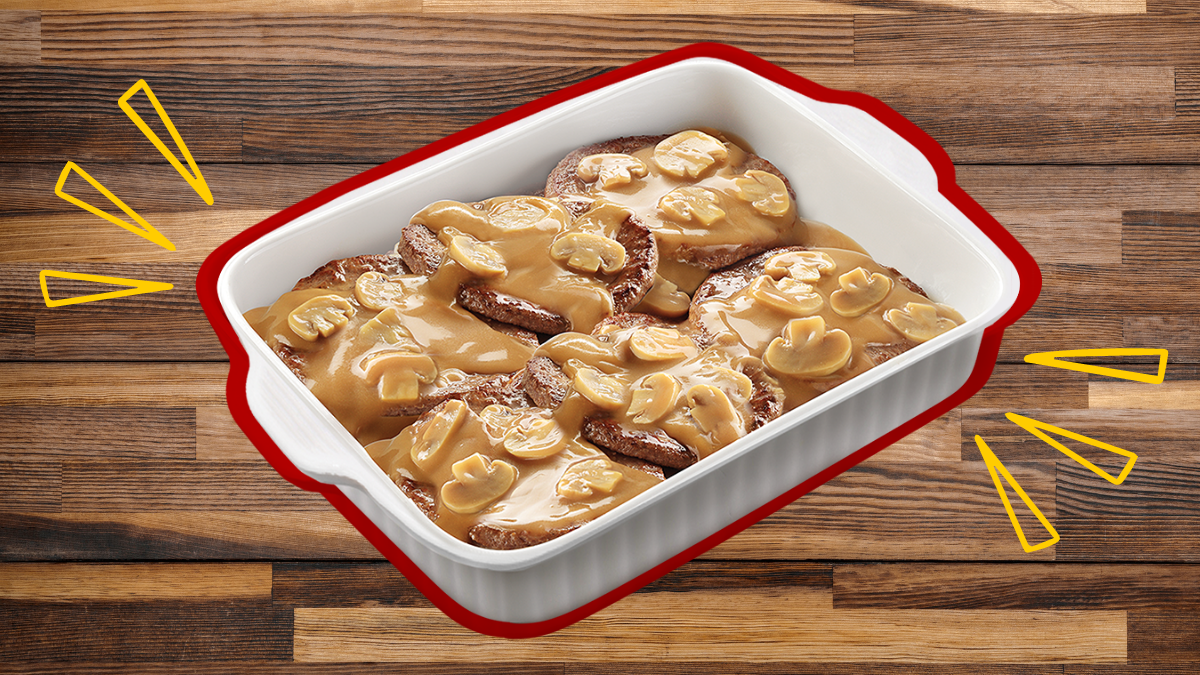 Jollibee's New Burger Steak Family Pan is Perfect for Potlucks (and Extra Rice)