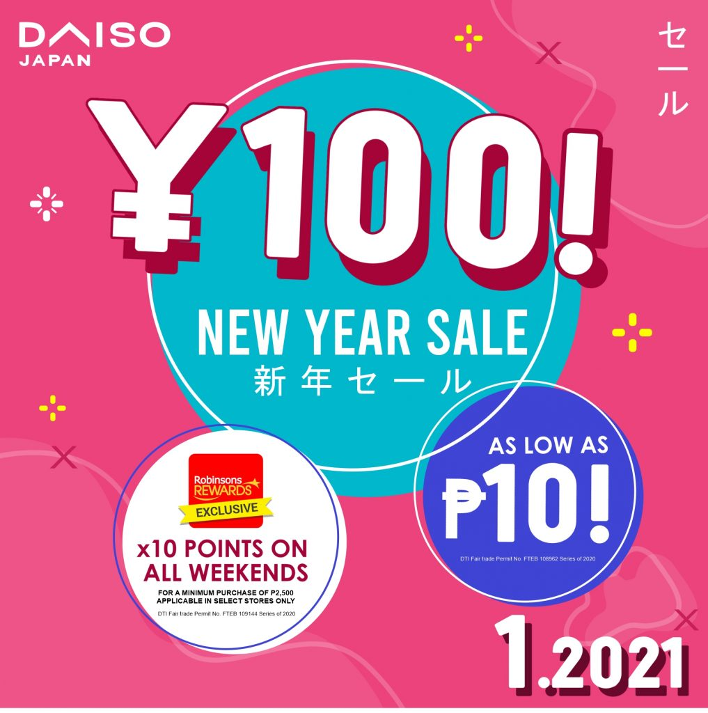 Daiso Japan New Year Sale