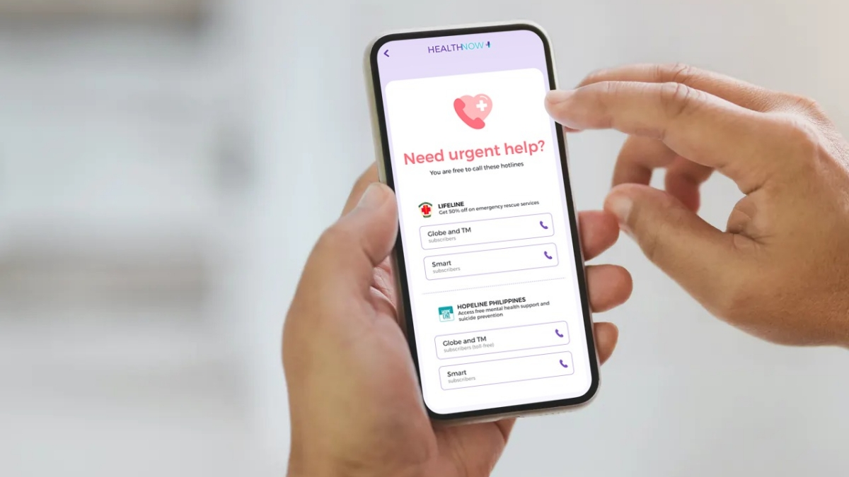 Mental Health Support Desk HOPELINE is Now Available at the HealthNow App