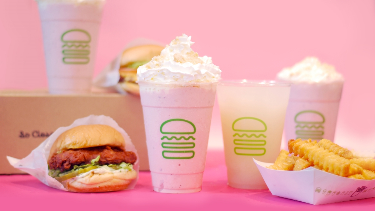 Shake Shack's Lychee Lemonade and Strawberry Cookies & Cream Shake is Available For a Limited Time Only