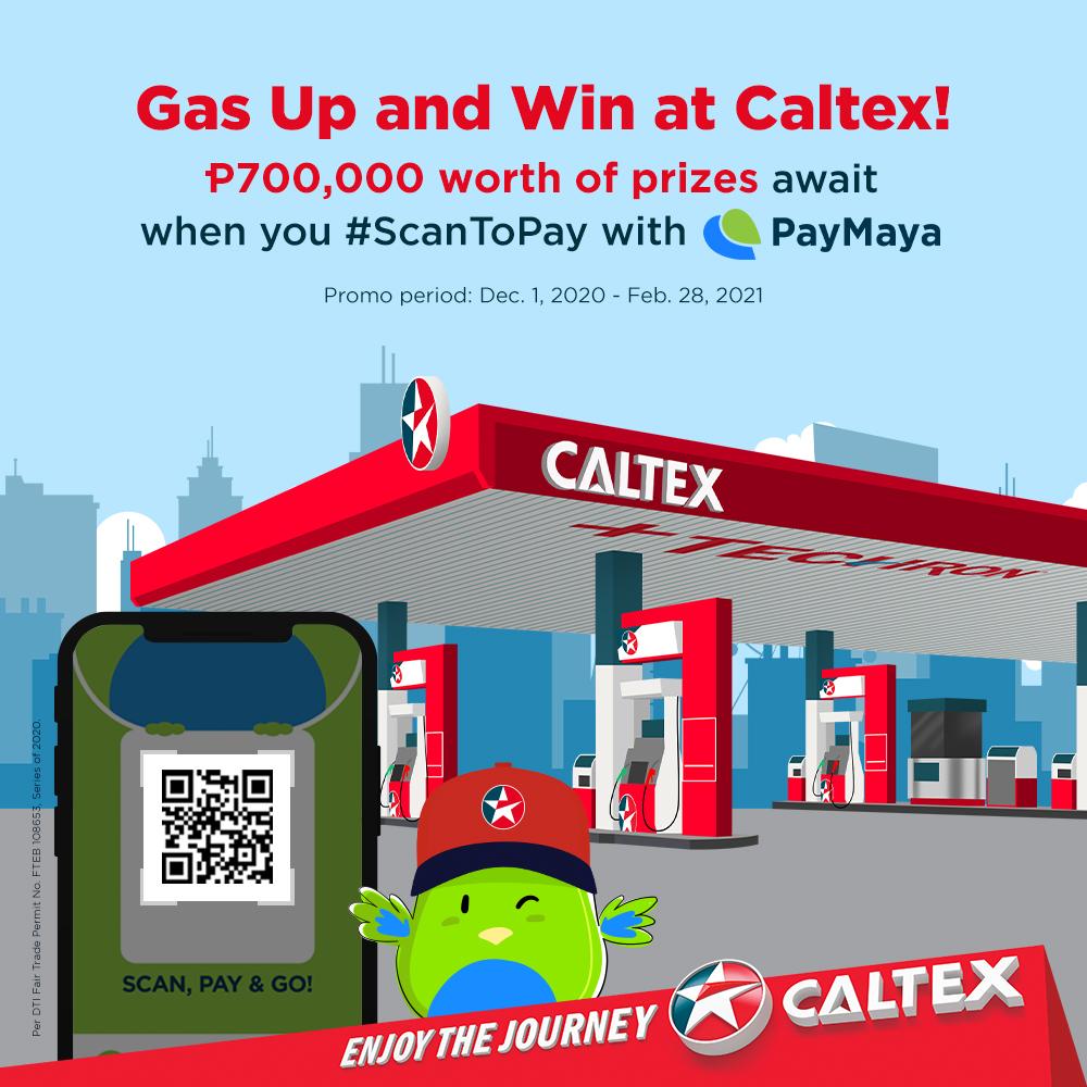 Paymaya QR promo with Caltex