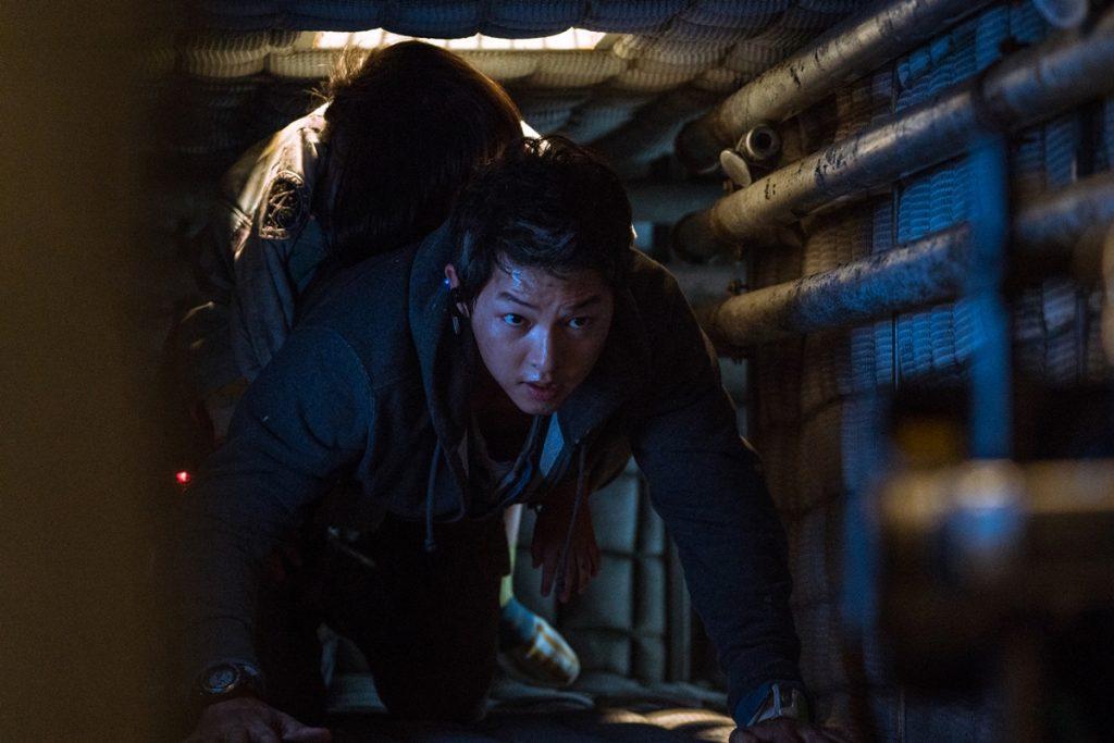 Song Joong Ki as Tae Ho in Space Sweepers