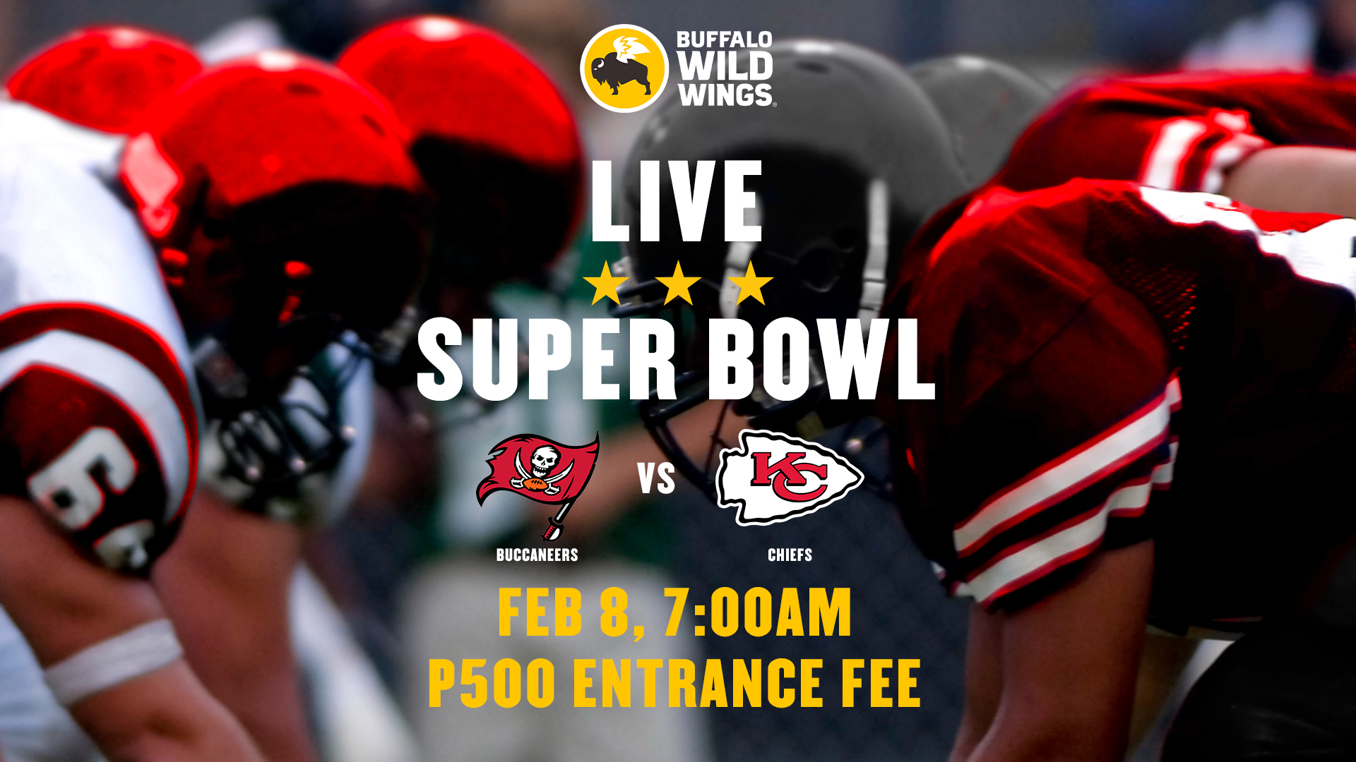 Watch Super Bowl Live at Buffalo Wild Wings on February 8!