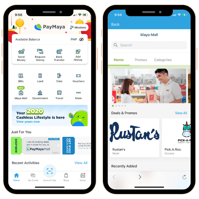 PayMaya Mall in App