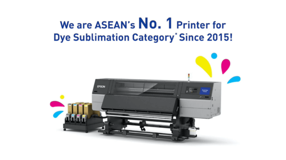 Epson is Ranked Top 1 in The Textile Dye Sublimation Printer Category in ASEAN Since 2015