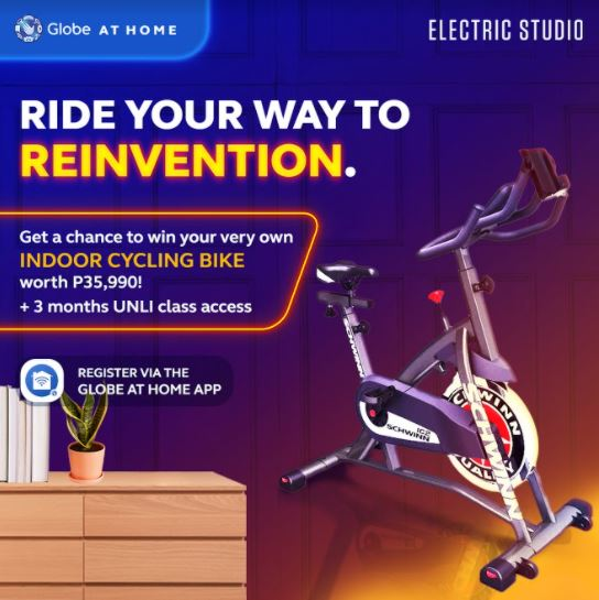 Reinvent Wellness - Globe at Home - Win an Indoor Cycling Bike