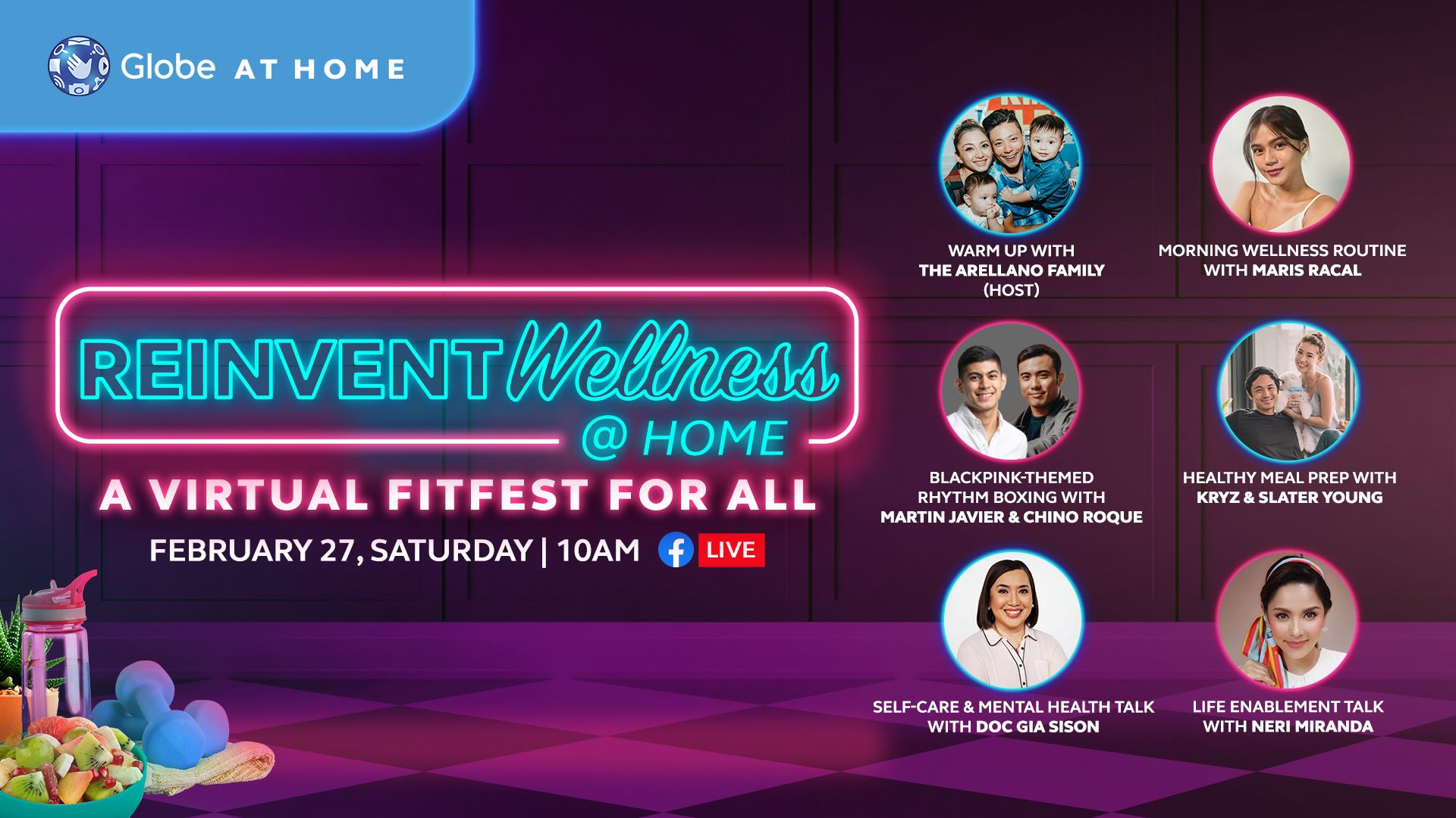 #Reinvent Wellness With Globe At Home: A Virtual Fitfest for All