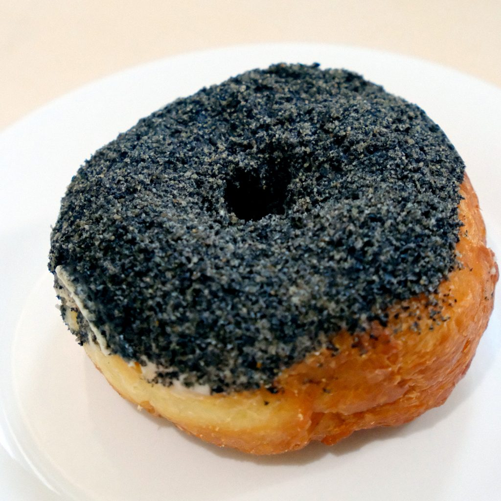 Black Sesame Doughnut (P105) - poison doughnuts