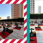 Ride Revolution at Shangri-La Plaza takes its classes outdoors