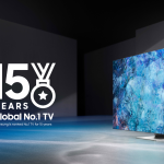 Samsung Named No.1 Global TV Manufacturer for 15 Consecutive Years