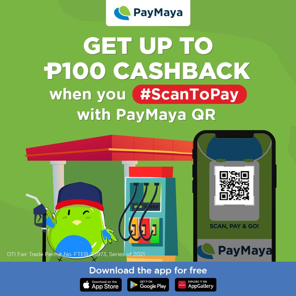 PayMaya Gas Stations Cash back