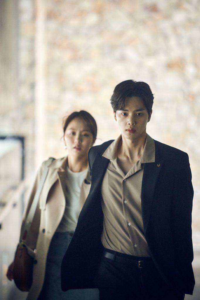 Song Kang and Kim So Hyun as Hwang Sun Oh and Kim Jojo in Love Alarm 2