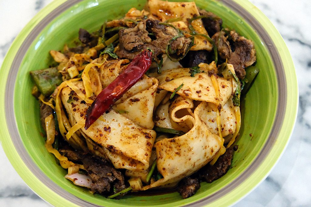 Tingly Cumin Lamb hand-pulled biang biang noodles by Pilya's Kitchen