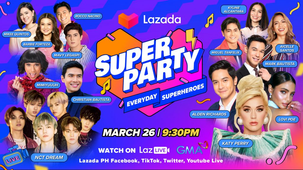 Katy Perry and NCT Dream for Lazada Super Party