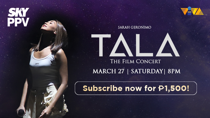 Read more about the article Sarah Geronimo's Concert 'Tala: The Film Concert' To Air on SKY Pay-Per-View This March 27