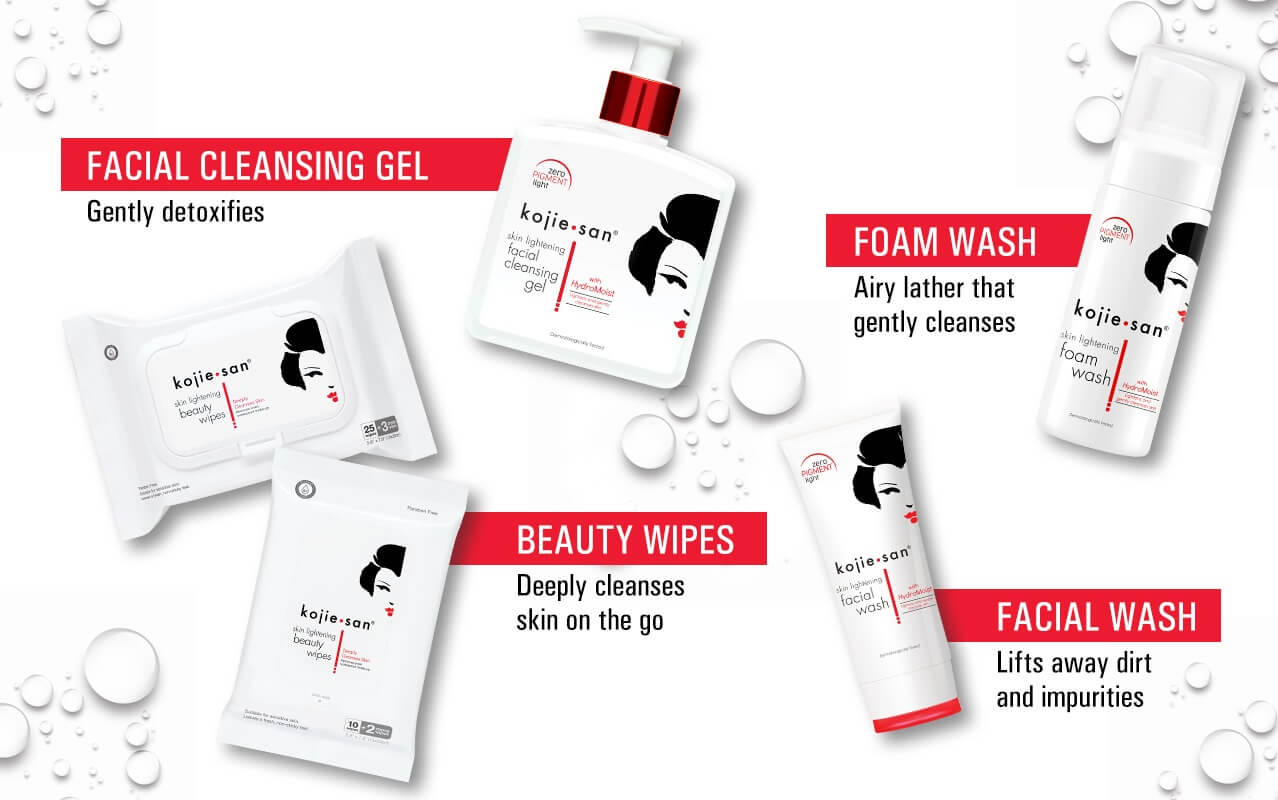 Achieve Pure Light skin with Kojie.san's first-ever line of Facial Cleansers