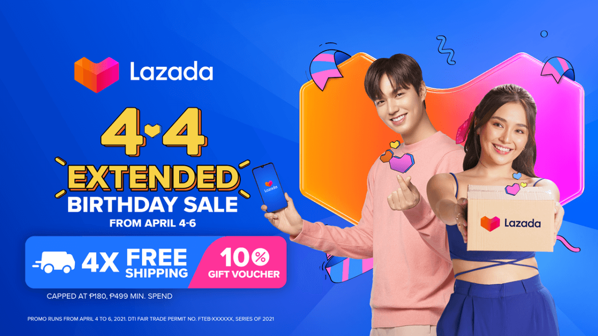 Read more about the article Lazada Extends 4.4 Birthday Sale with More Amazing Deals and Free Shipping Offers