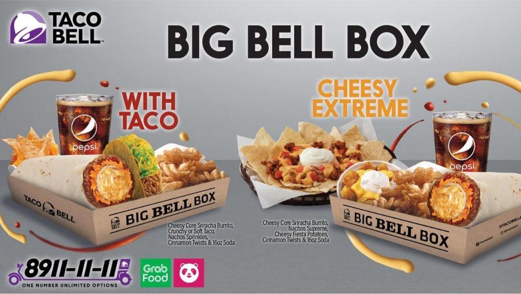 Taco Bell - Cheesy Core Sriracha Burrito BIg Bell Box