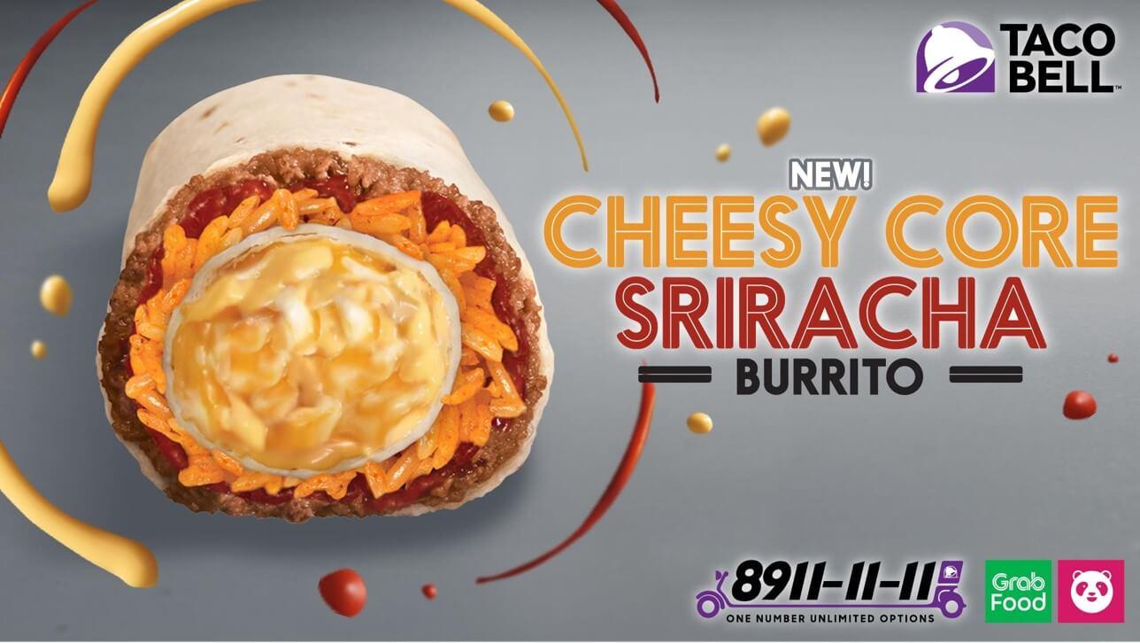 Cheesy Core Sriracha Burrito Now Available at Taco Bell