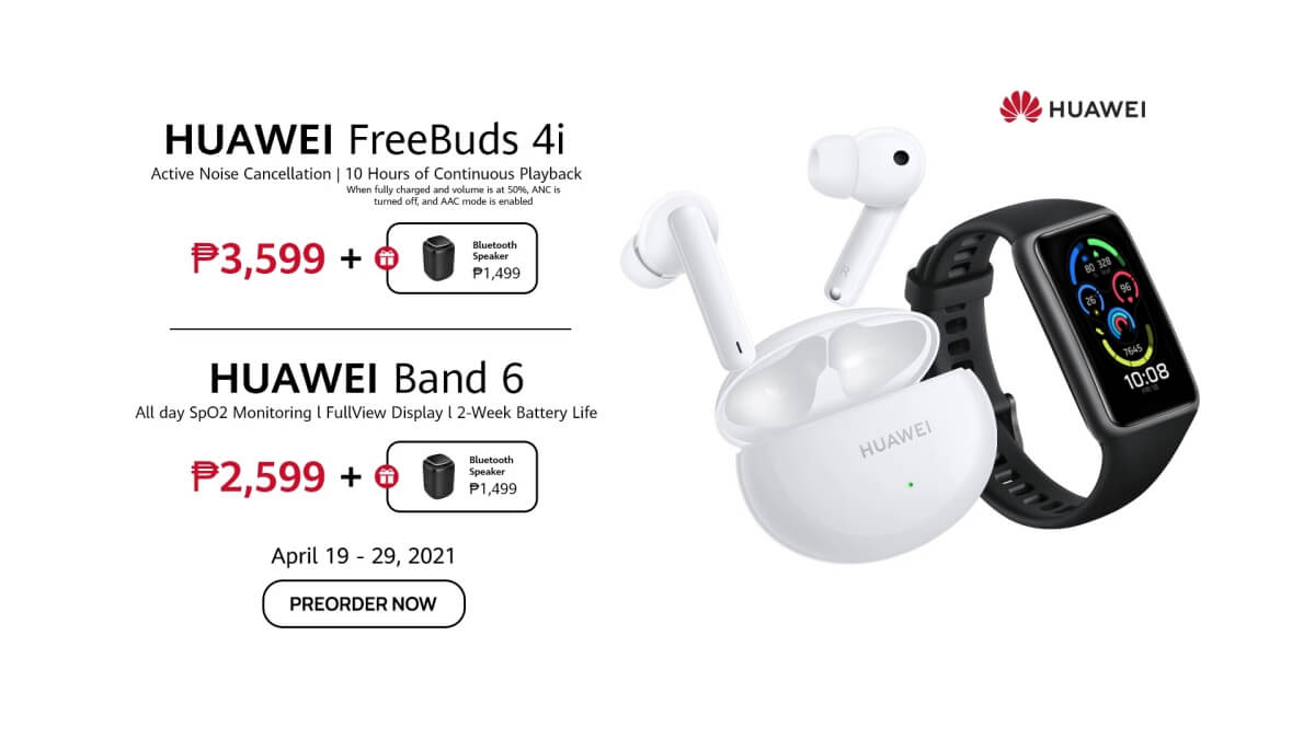 Huawei Announces Pre-Orders for Fresh Devices FreeBuds 4i and Band 6