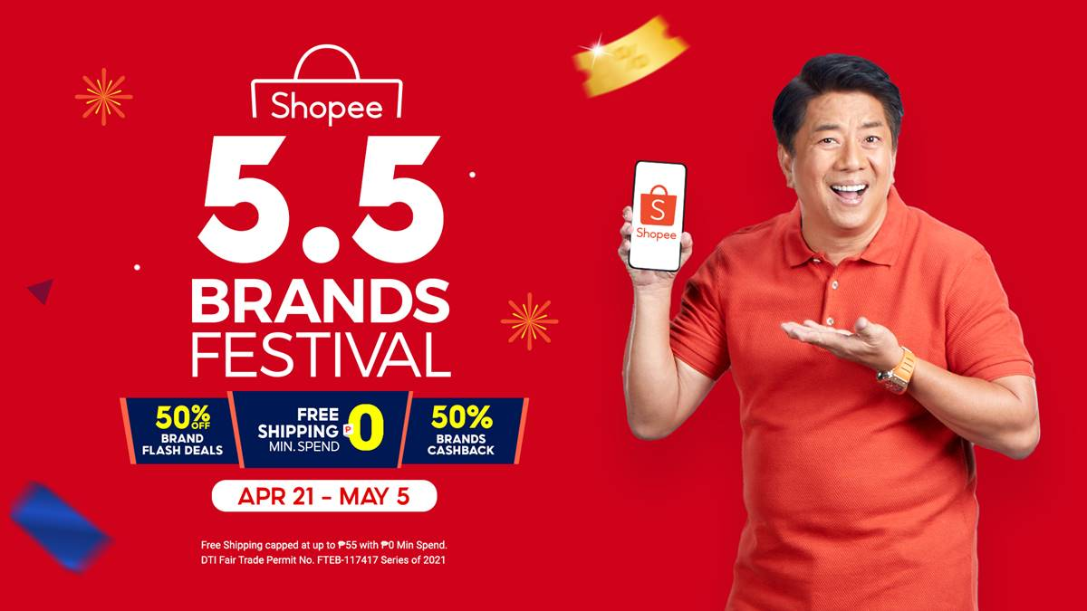 Enjoy Exclusive Deals and Discounts at the Upcoming Shopee 5.5 Brands Festival