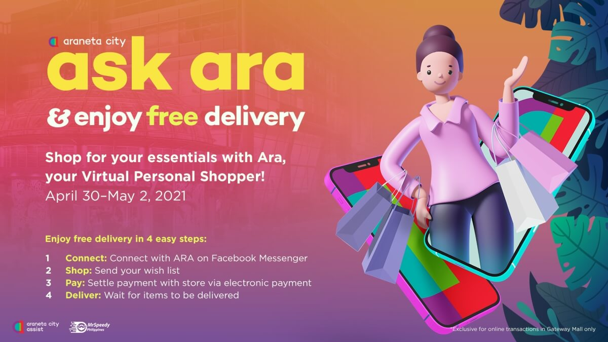 Araneta City Offers Free Delivery via Ask Ara Until May 2