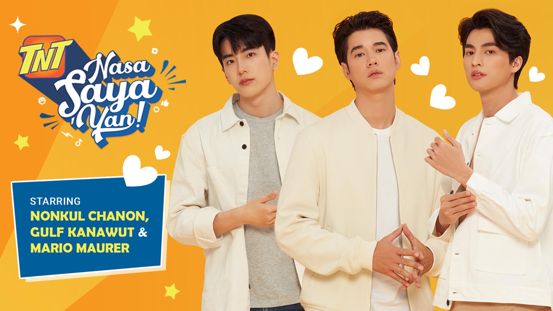 Thai Stars Mario Maurer, Gulf Kanawut, and Nonkul Chanon Join TNT in Their Biggest Campaign Yet