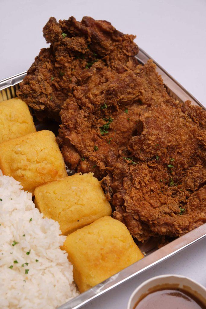 Kettle Buttermilk Fried Chicken Family Platter - rice