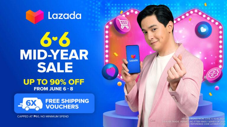 Lazada 6.6 Halfy Mid-Year Sale with New Lazada PH Brand Ambassador Alden Richards