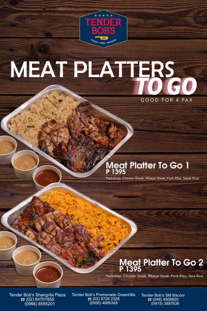 Tender Bob's Meat Platter to Go