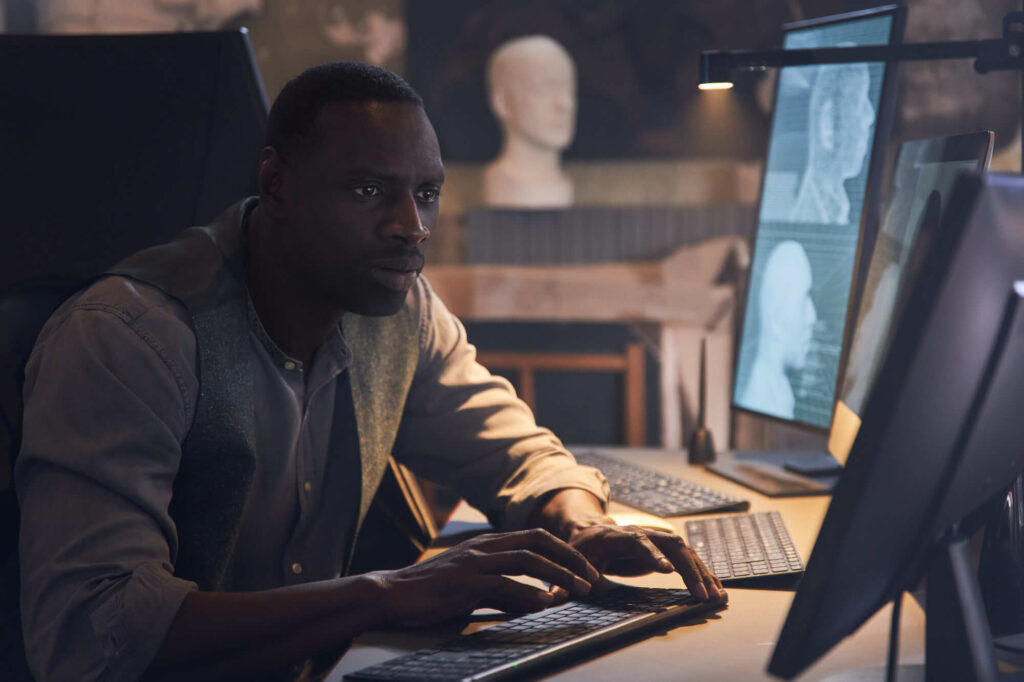 Omar Sy as Assane Diop in Lupin