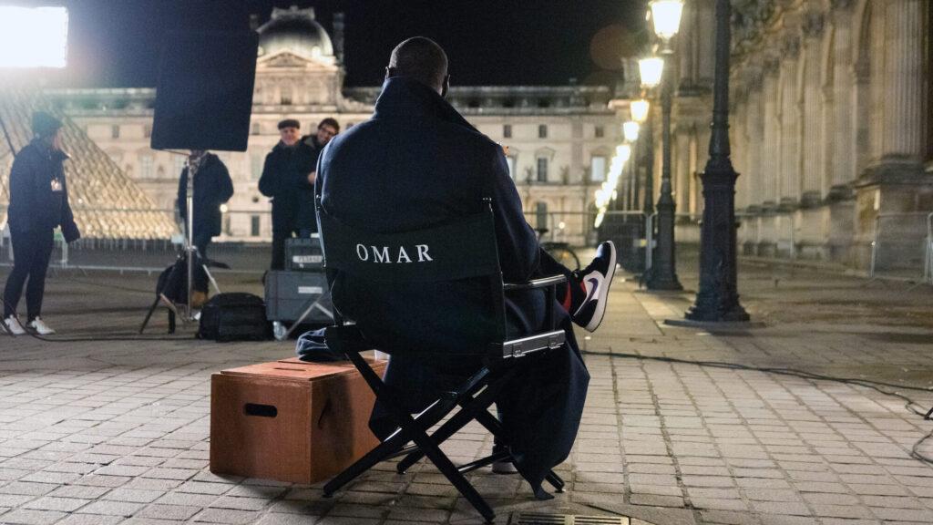 Omar Sy behind the scenes
