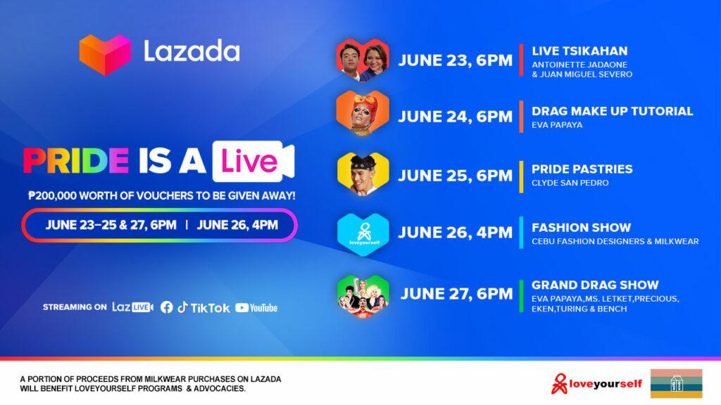 Lazada Pride 2021 schedule
