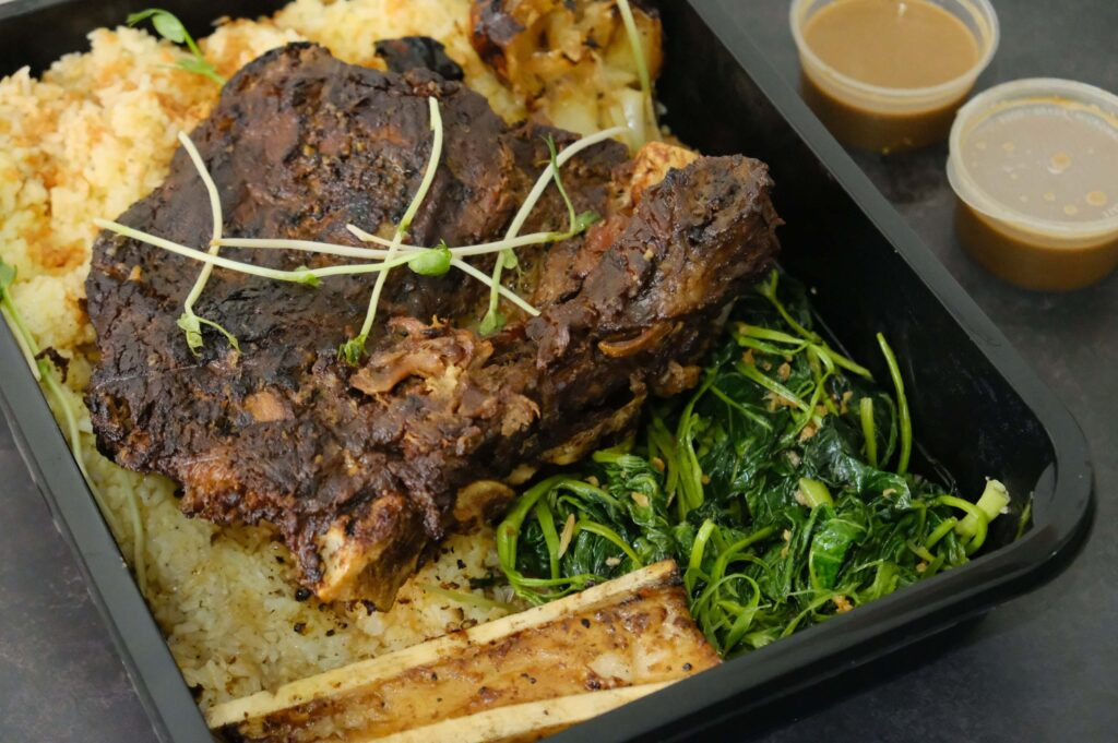 MANILA INASAL X HIMPOSSIBLE RECIPES Twice-Cooked Beef Inasal Tadyang (P1,850)