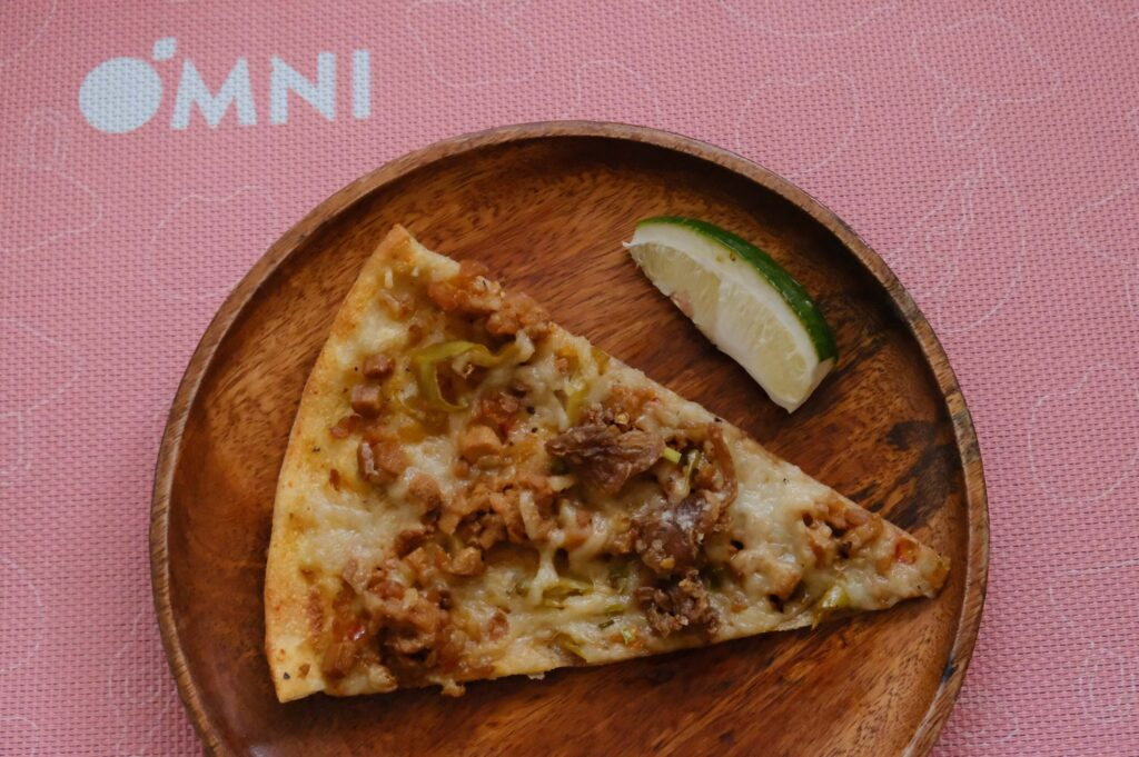 OmniPork Tofu and Mushroom Sisig Pizza (P670) - PizzaExpress