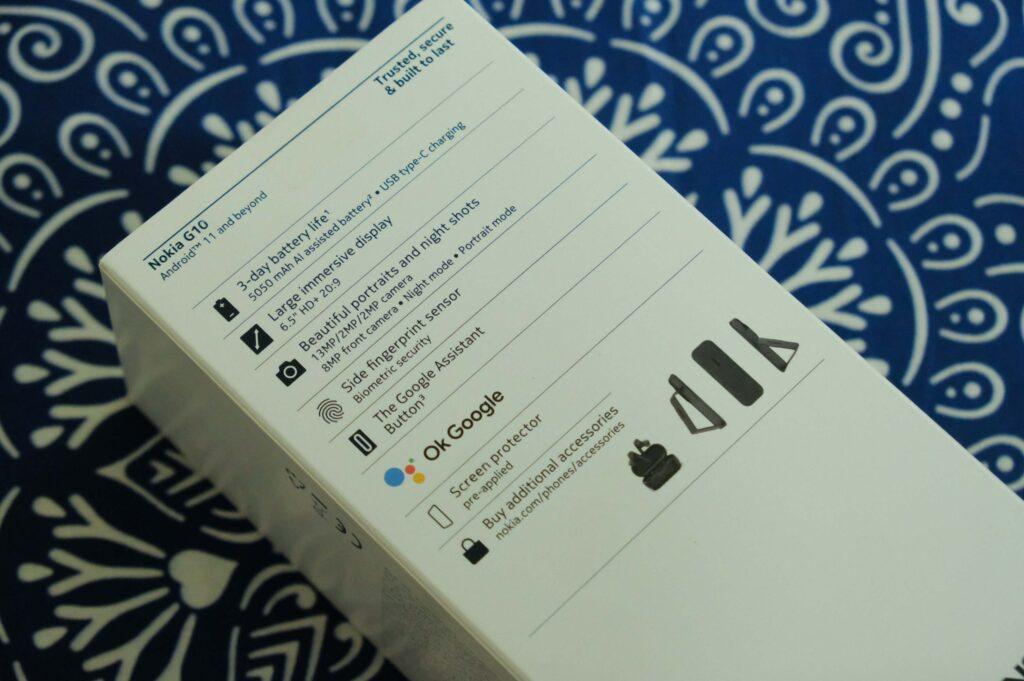 Nokia G10 box