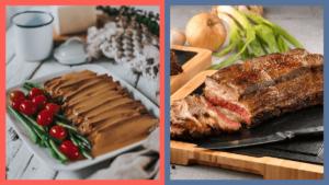 Lechon Baka and Roast Beef
