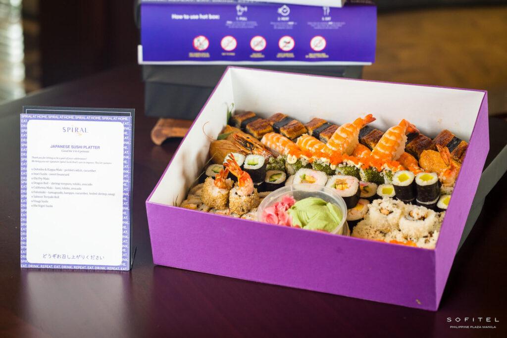 Spiral at Home sushi platter