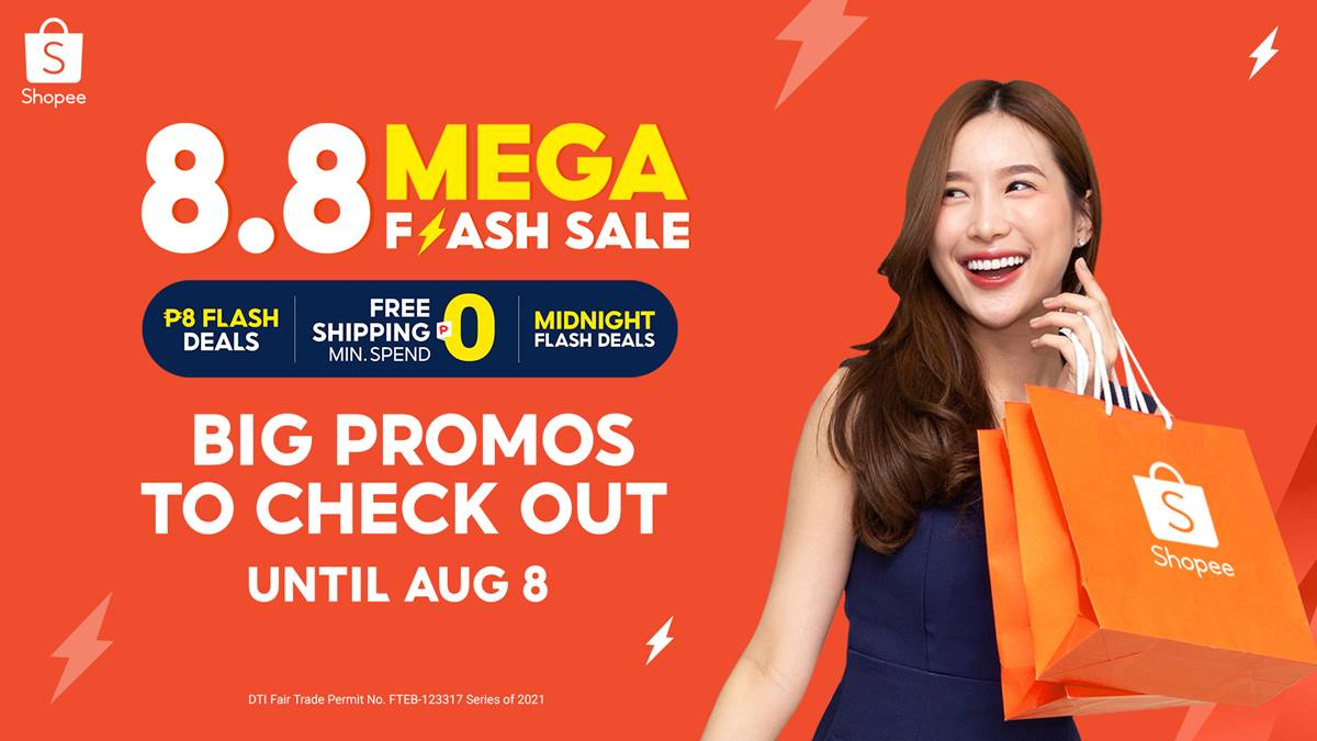Read more about the article Enjoy discounts up to 90% at the Shopee 8.8 Mega Flash Deals Sale