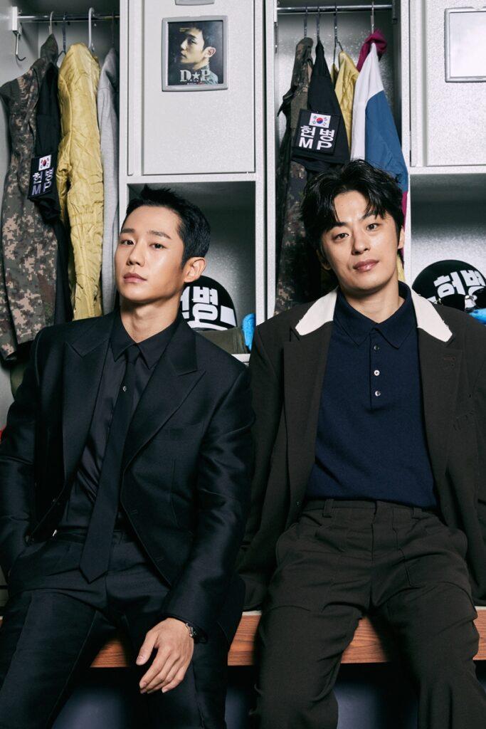 Jung Hae In and Koo Kyo Hwan in D.P.