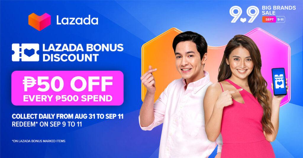 Lazada Super Show 9.9 - Lazada Bonus Discount