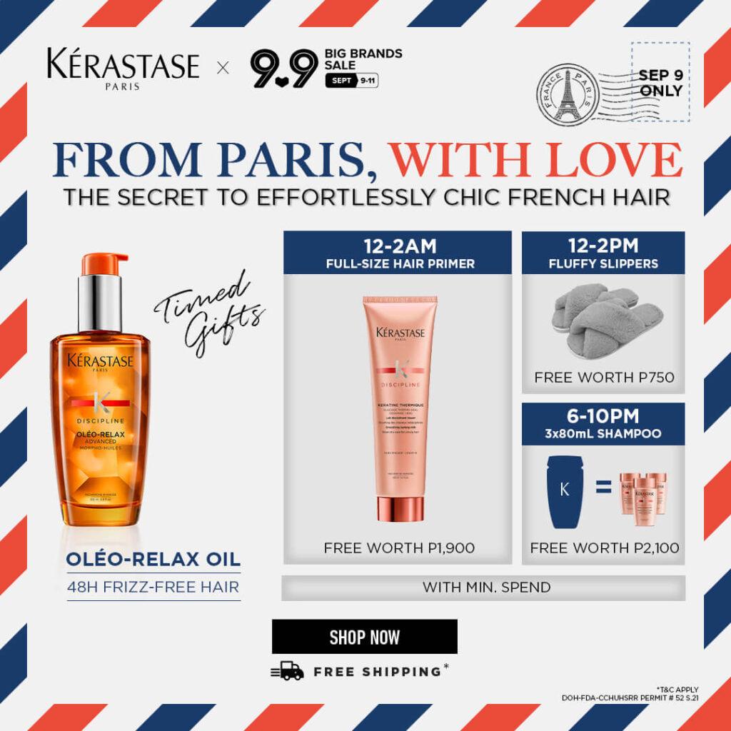 Kérastase September 9 Exclusive Timed Gifts