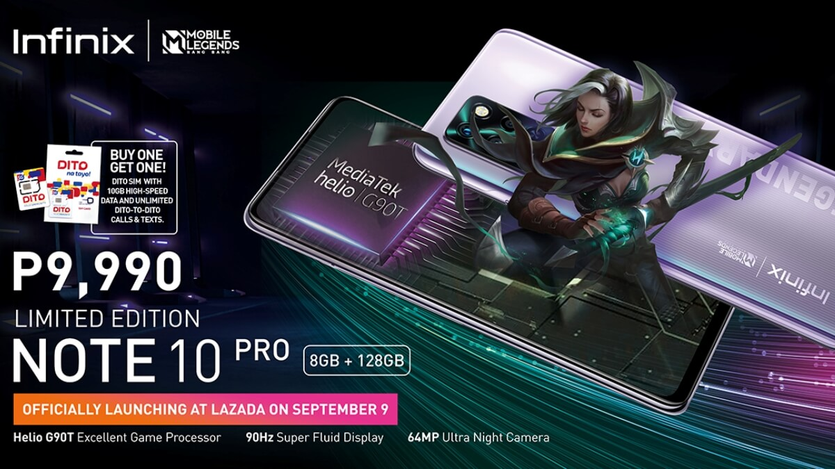 Read more about the article Infinix Bares Limited Edition Note 10 Pro Mobile Legends Bang Bang Smartphone