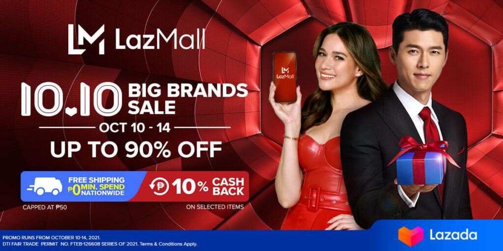 LazMall 10.10 Big Brands Sale_KV - Bea Alonzo and Hyun Bin