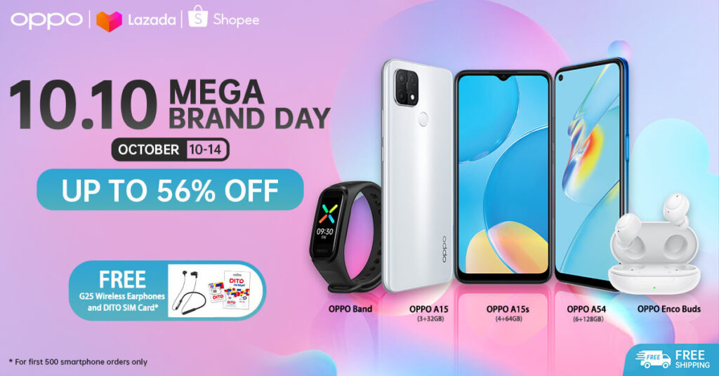 Oppo at Shopee x Lazada 10.10 Mega Sale