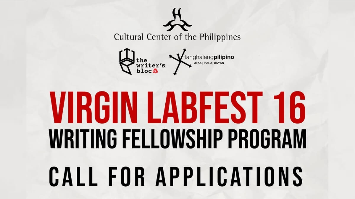 Read more about the article The Virgin Labfest 16 Writing Fellowship Program is Now Open for Applications